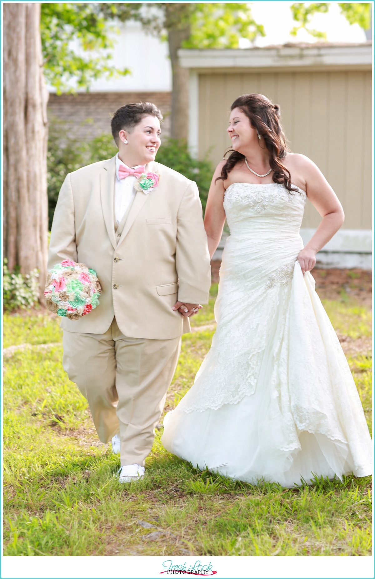 two brides getting married