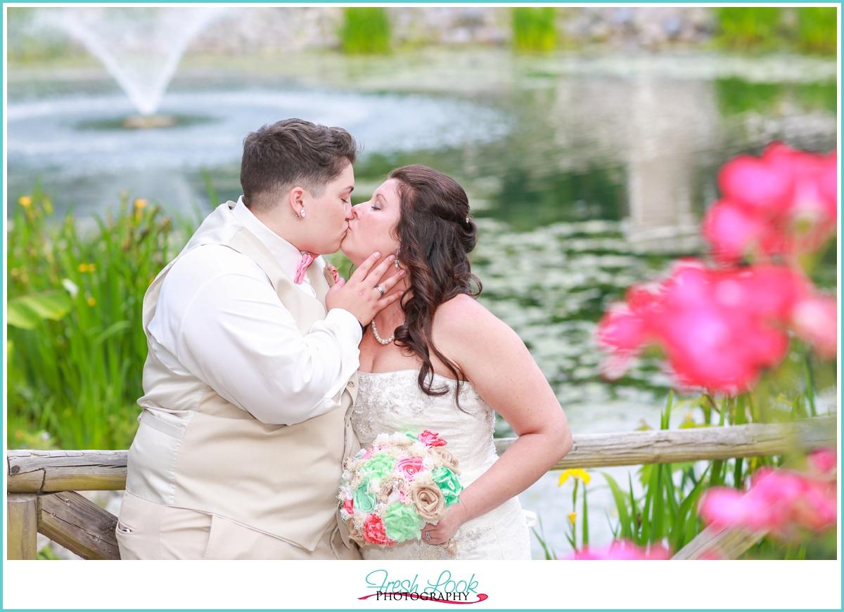 romantic bride and bride portraits