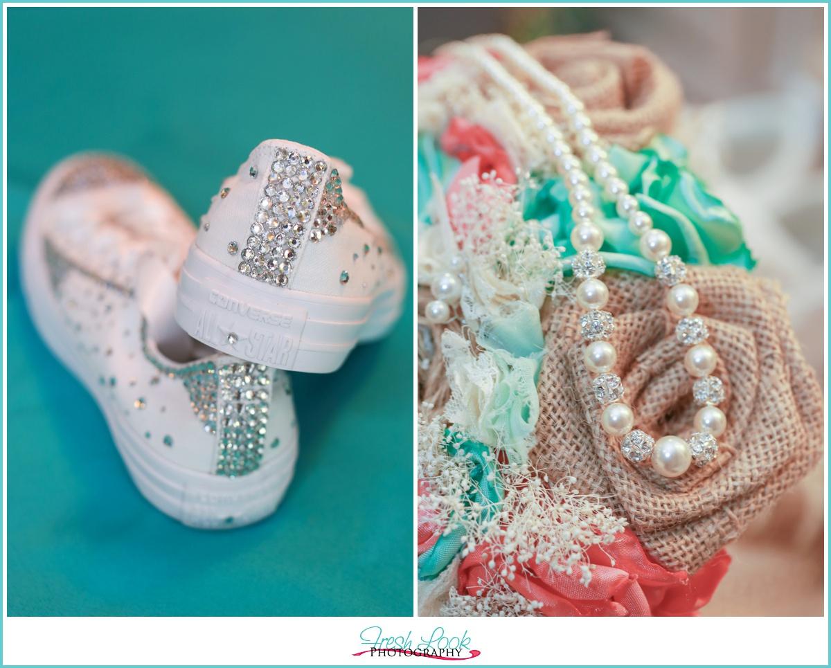 diamond converse shoes