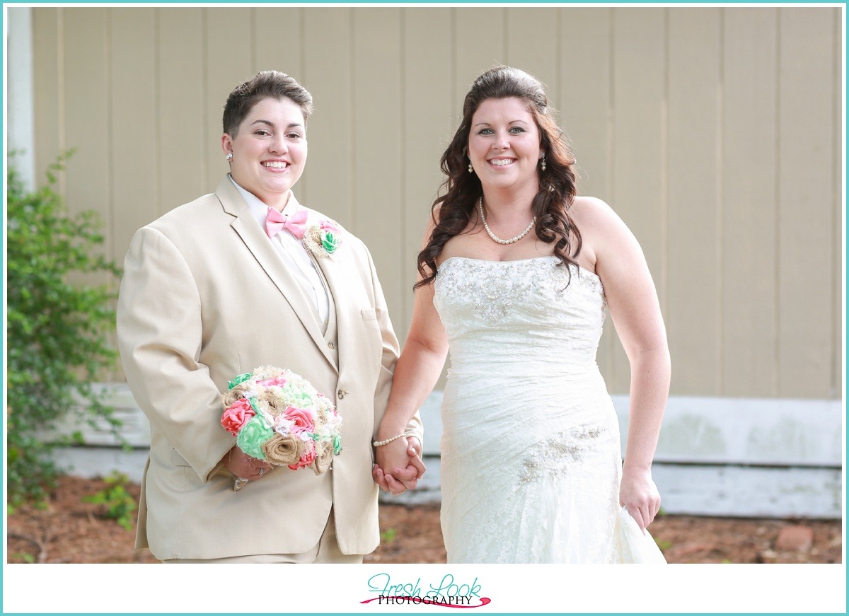 two bride on the wedding day