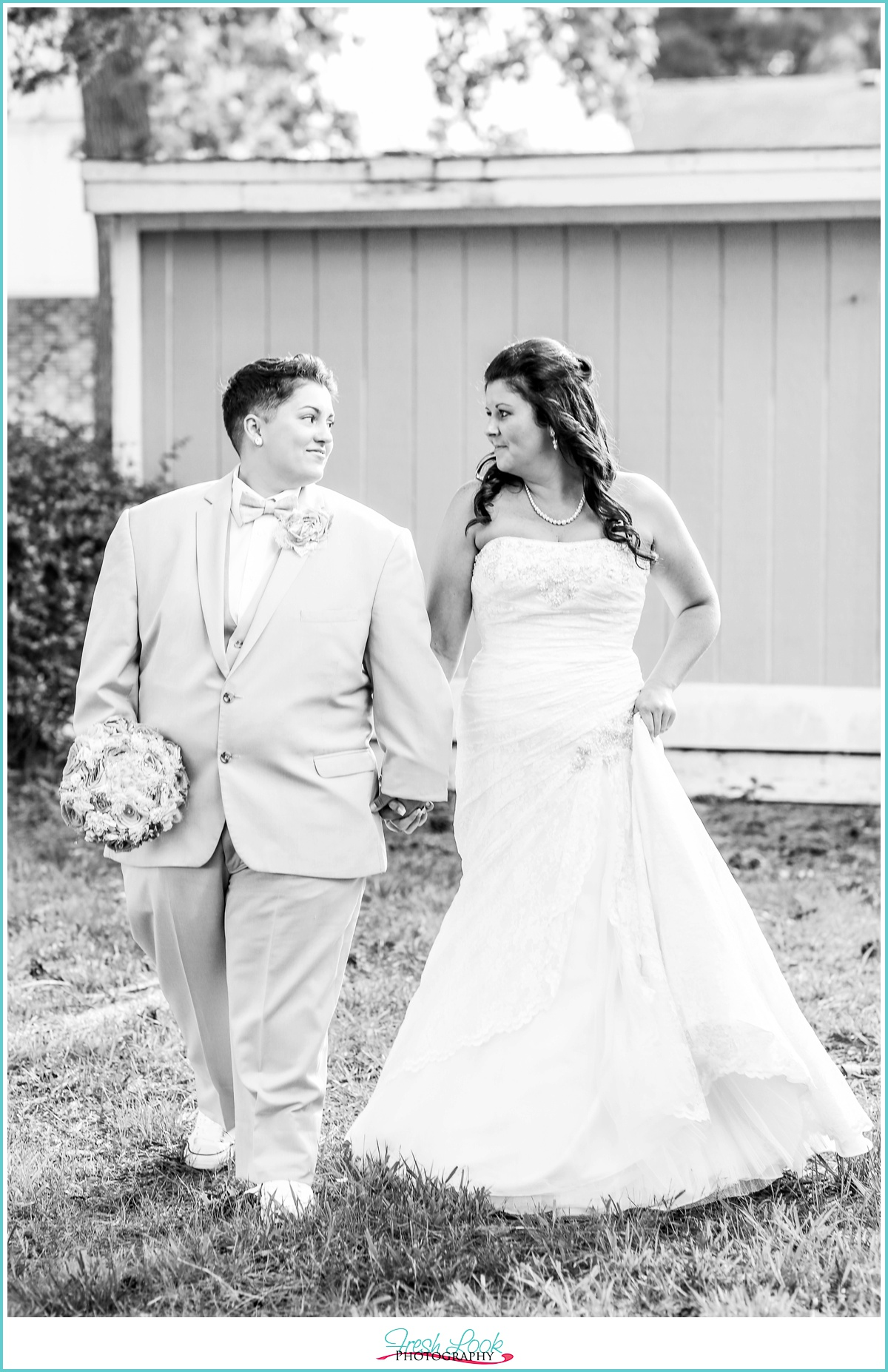 romantic black and white wedding