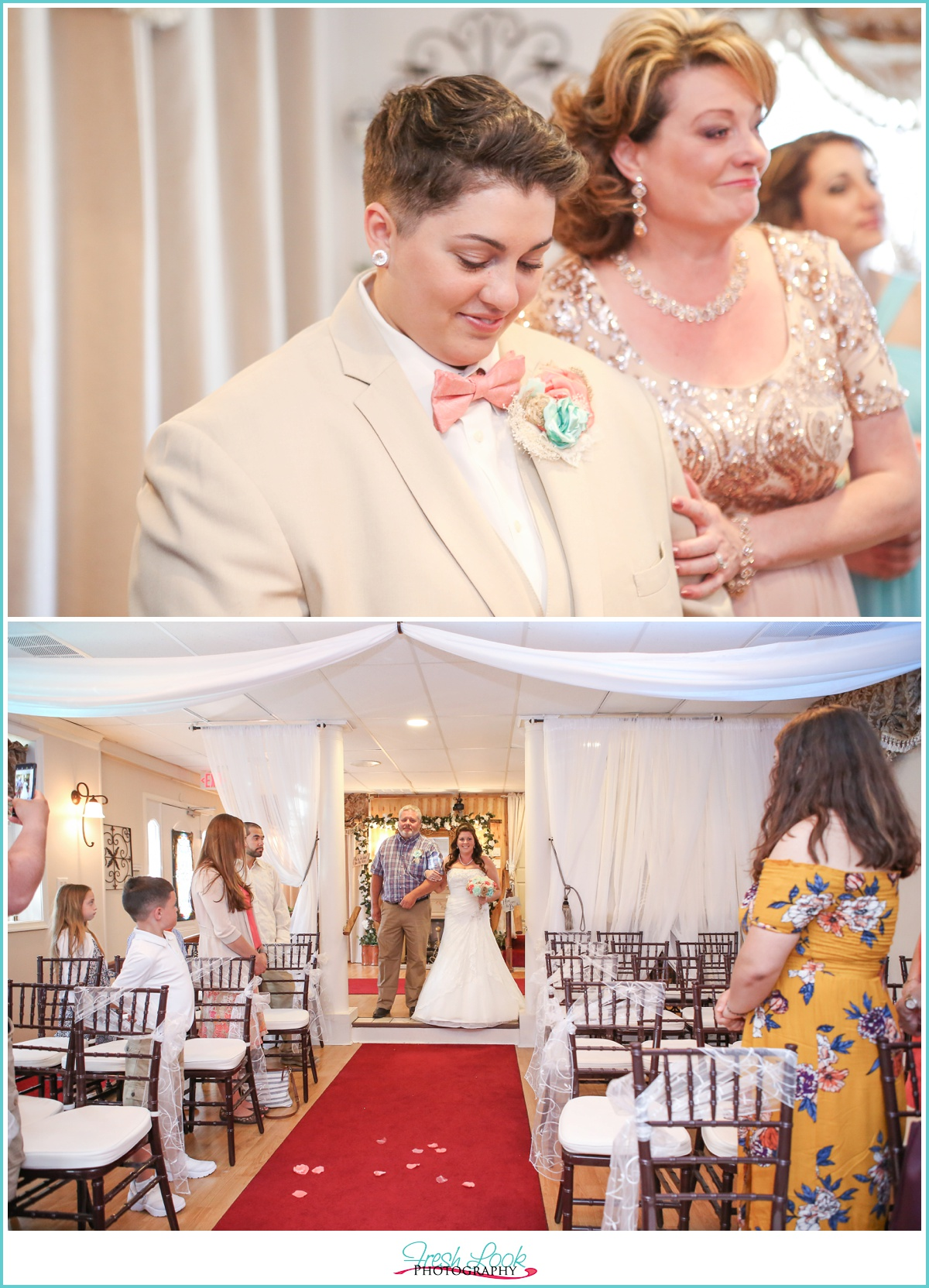 emotional brides during the wedding