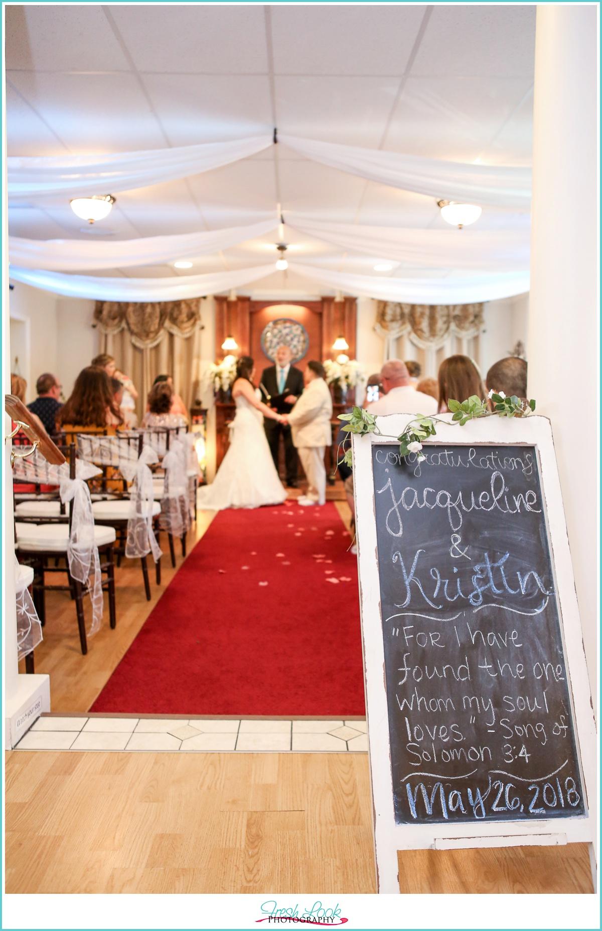 Virginia Beach Wedding Chapel ceremony