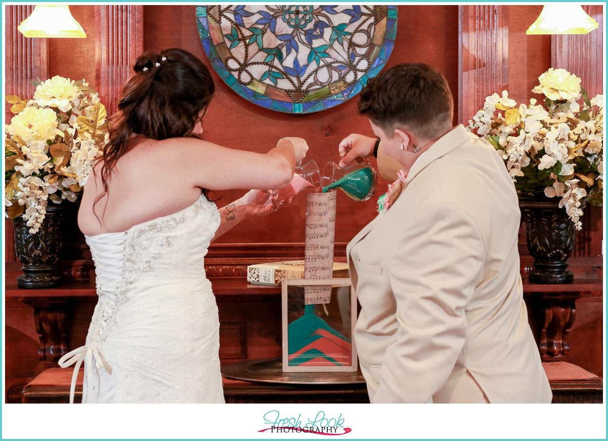 wedding sand ceremony