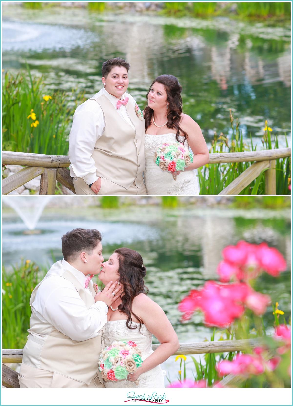 two brides wedding at Hunt Club Farm