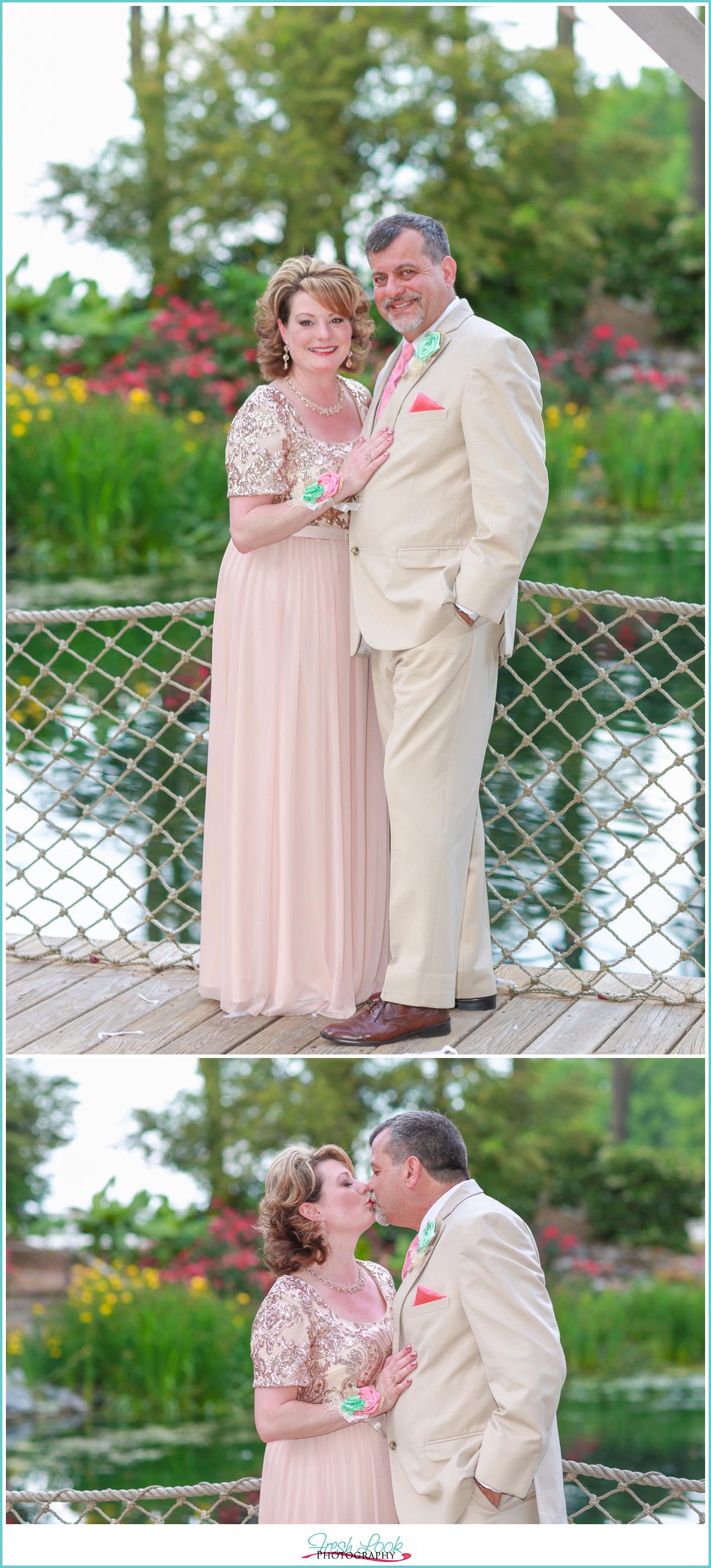 bride's parents at the wedding