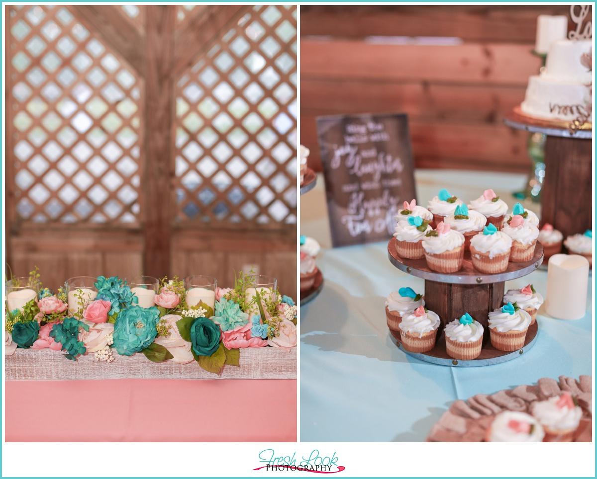 wedding cake and decor