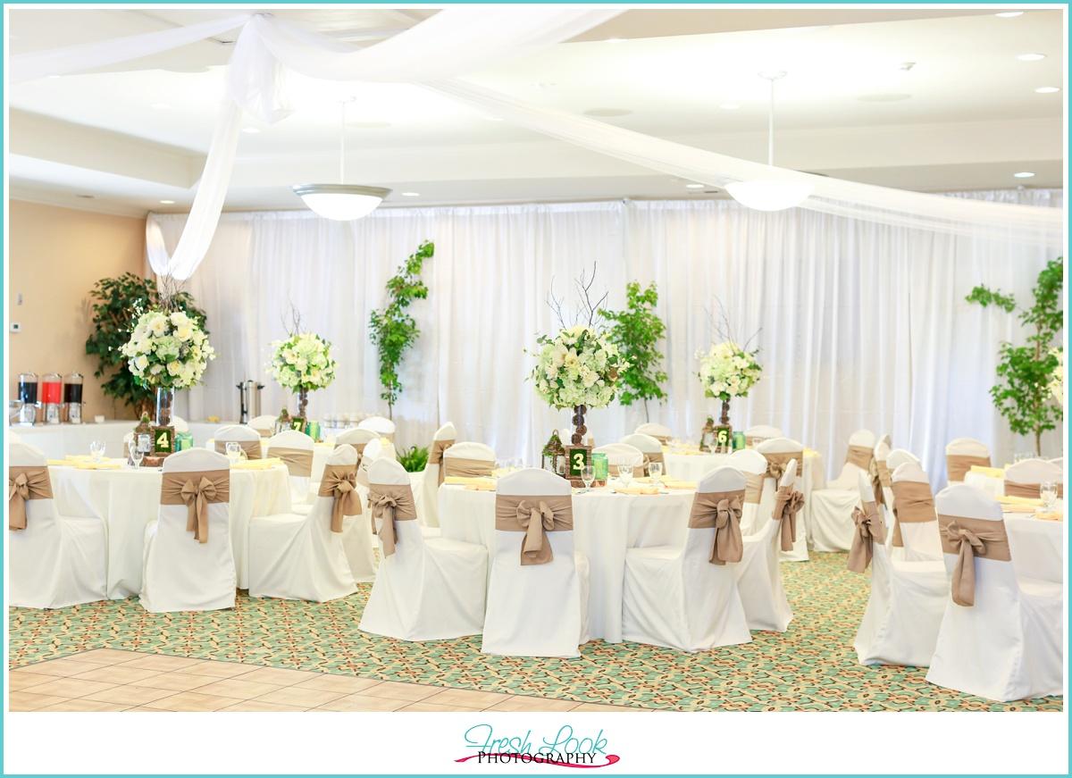 woodland themed wedding reception