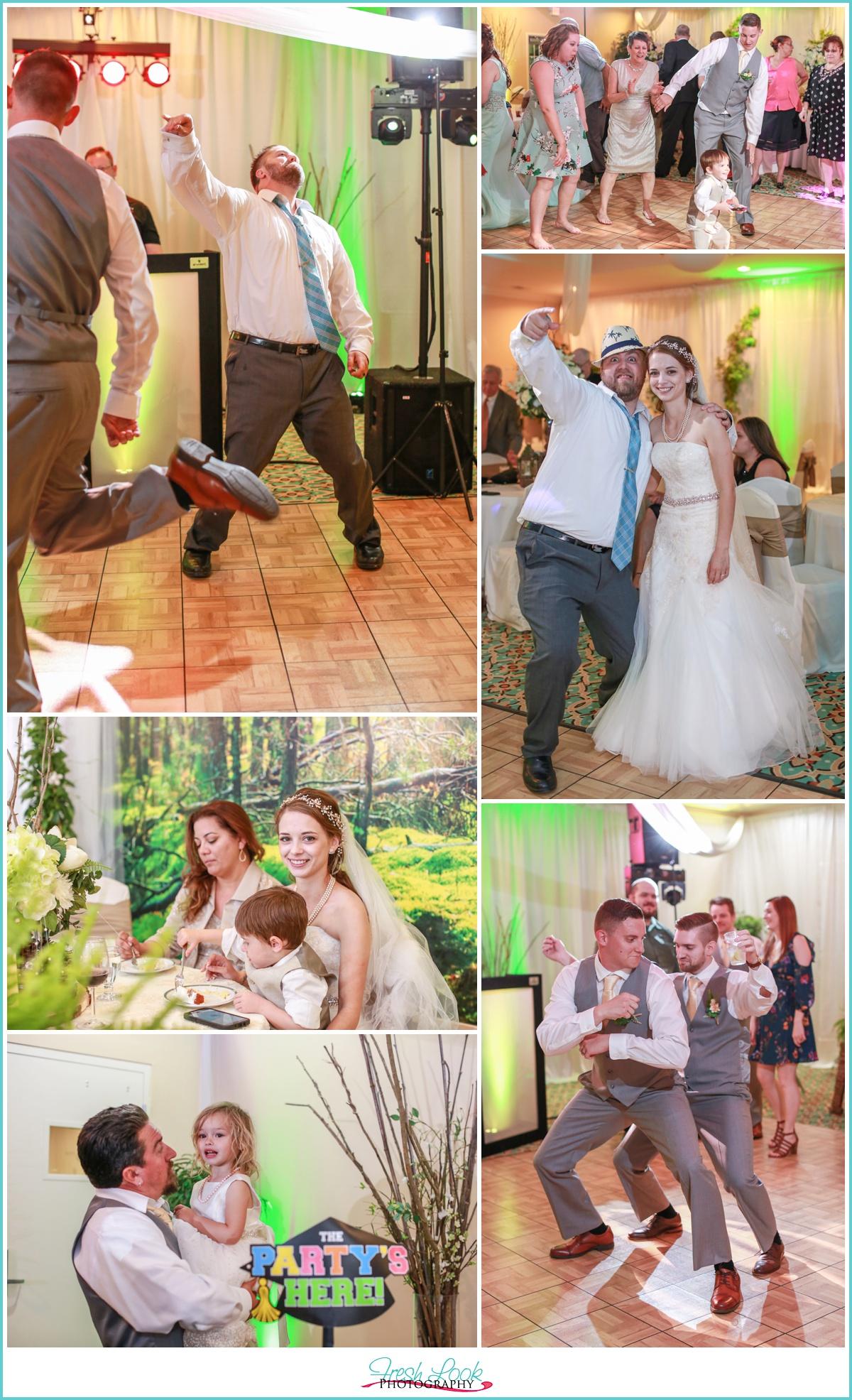 party on the wedding dance floor