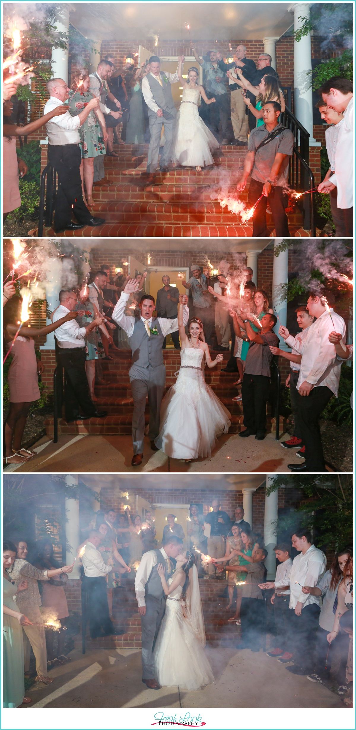 sparkler exit from the wedding