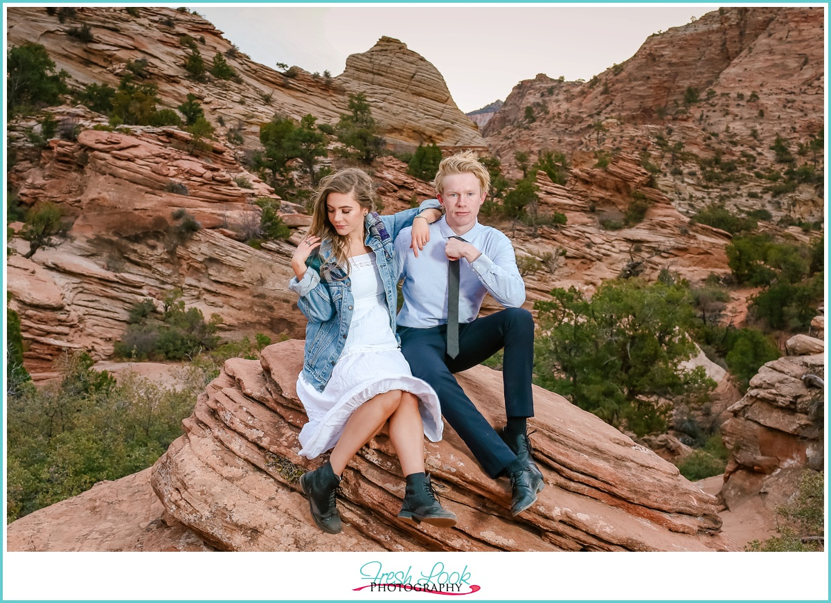 Utah State Park engagement Session