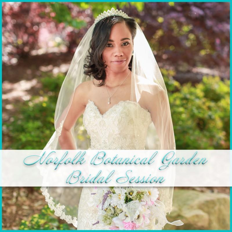 Norfolk Botanical Bridal Session