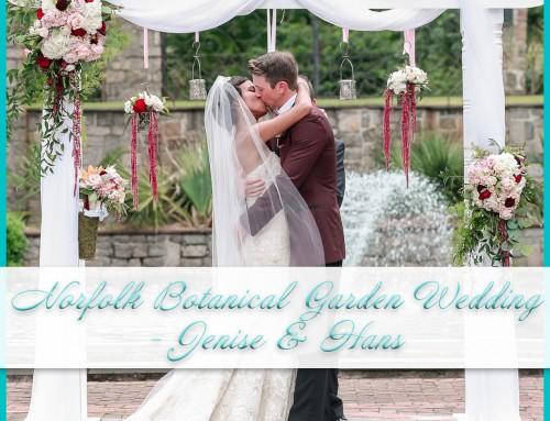 Norfolk Botanical Garden Wedding | Jenise+Hans