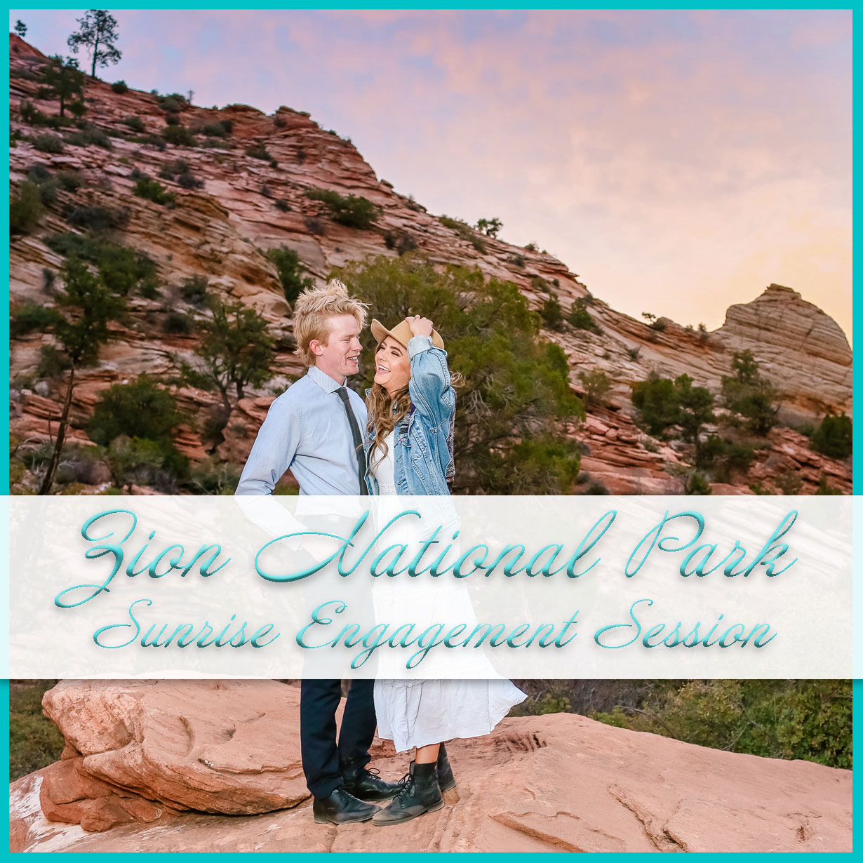 Zion Sunrise Engagement Session