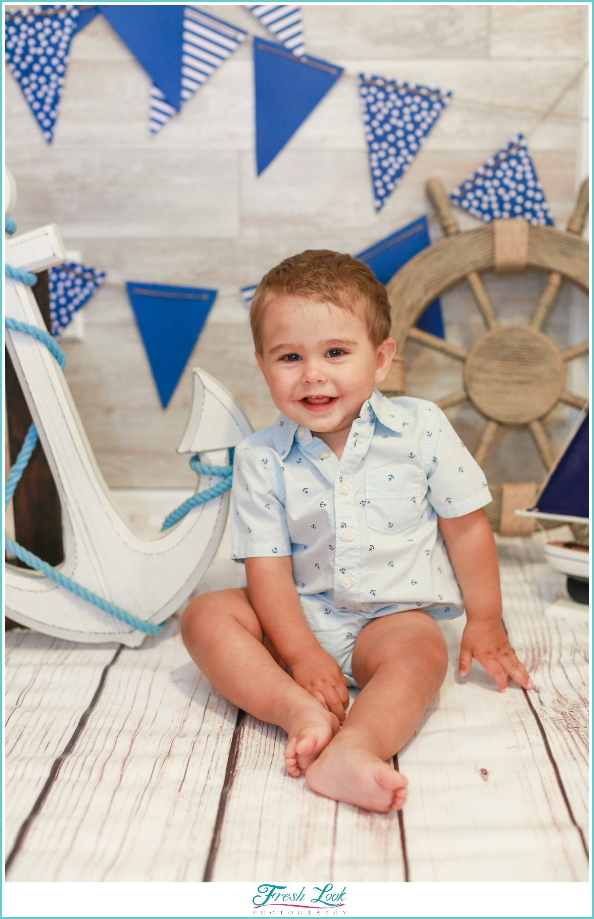 handsome baby boy turning one