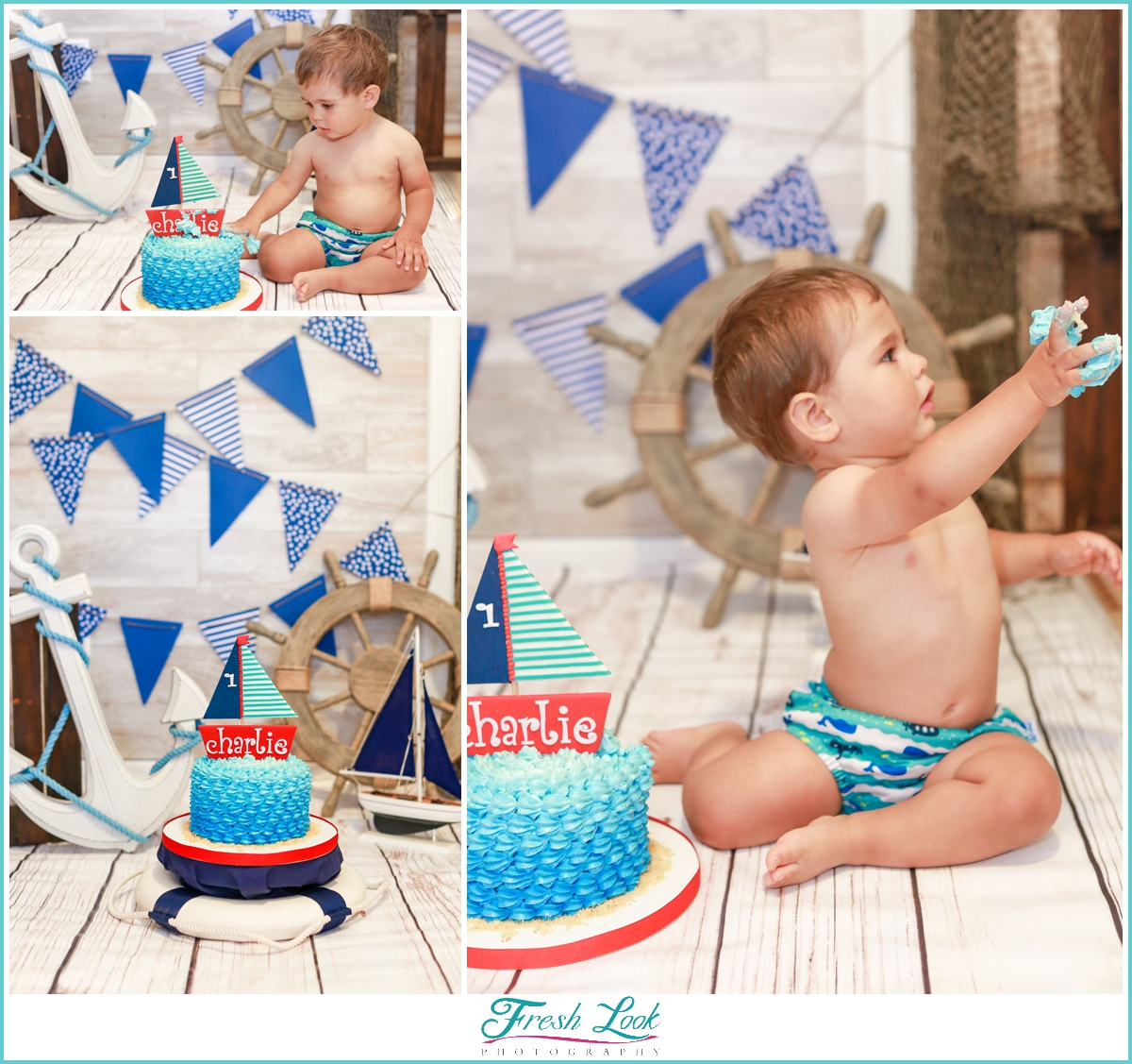 cake smash session for baby