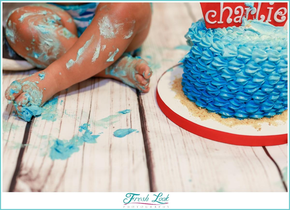 nautical cake smash details
