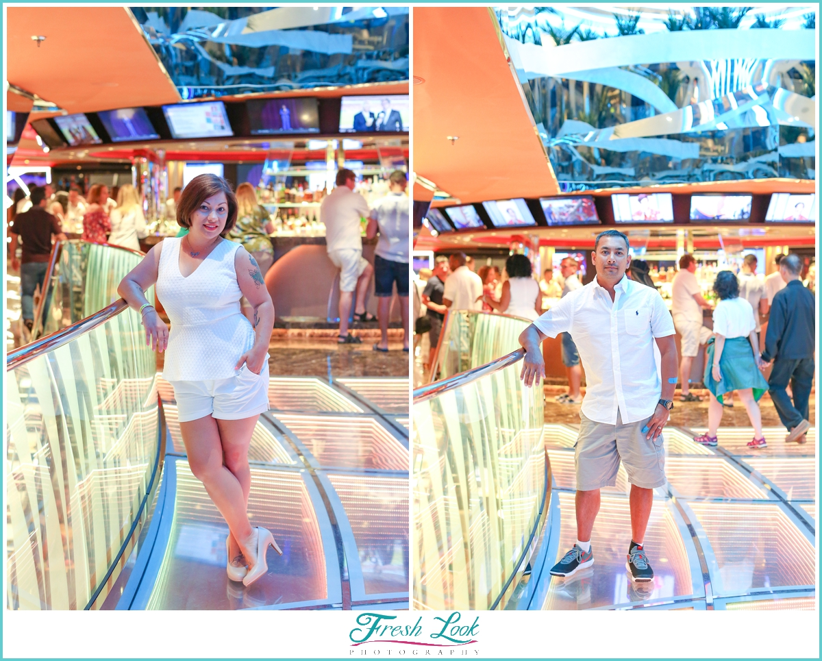 fun on the cruise boat