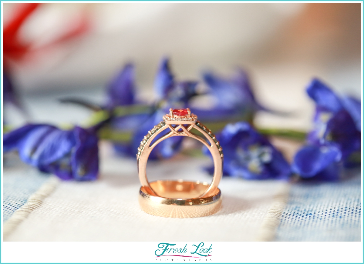 ruby and gold wedding ring