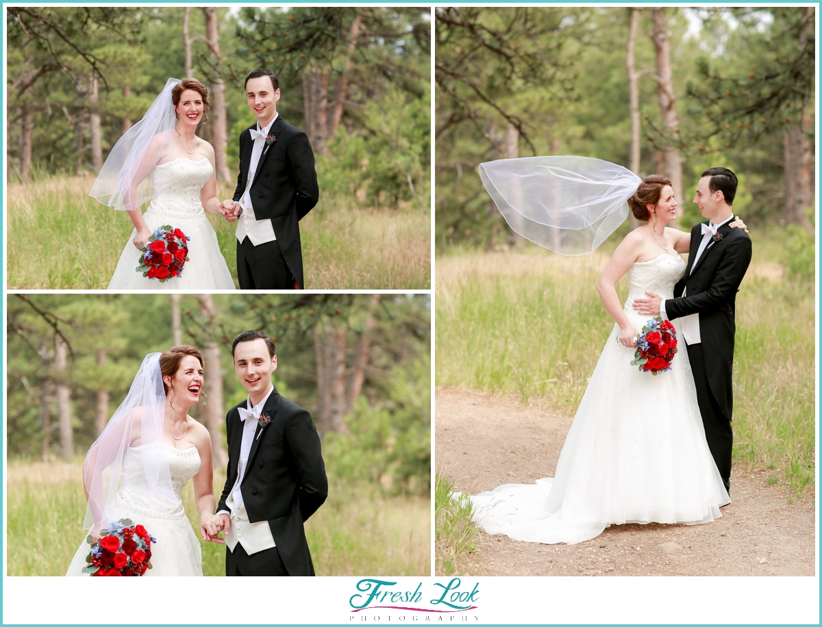 Colorado bride and groom portraits