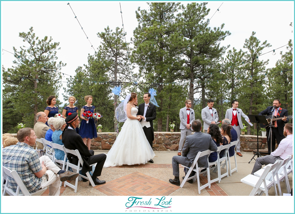 Colorado nature wedding ceremony