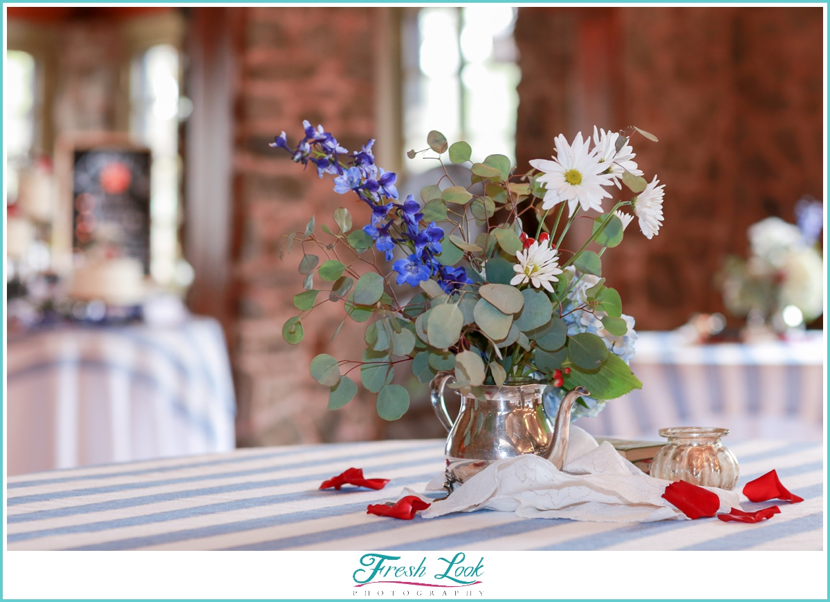 historic Colorado wedding reception