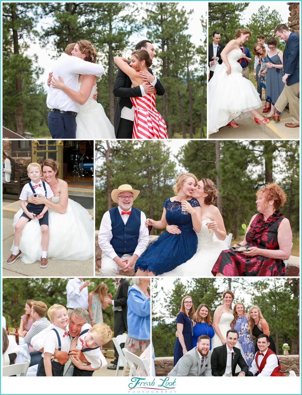 guests interacting at colorado wedding