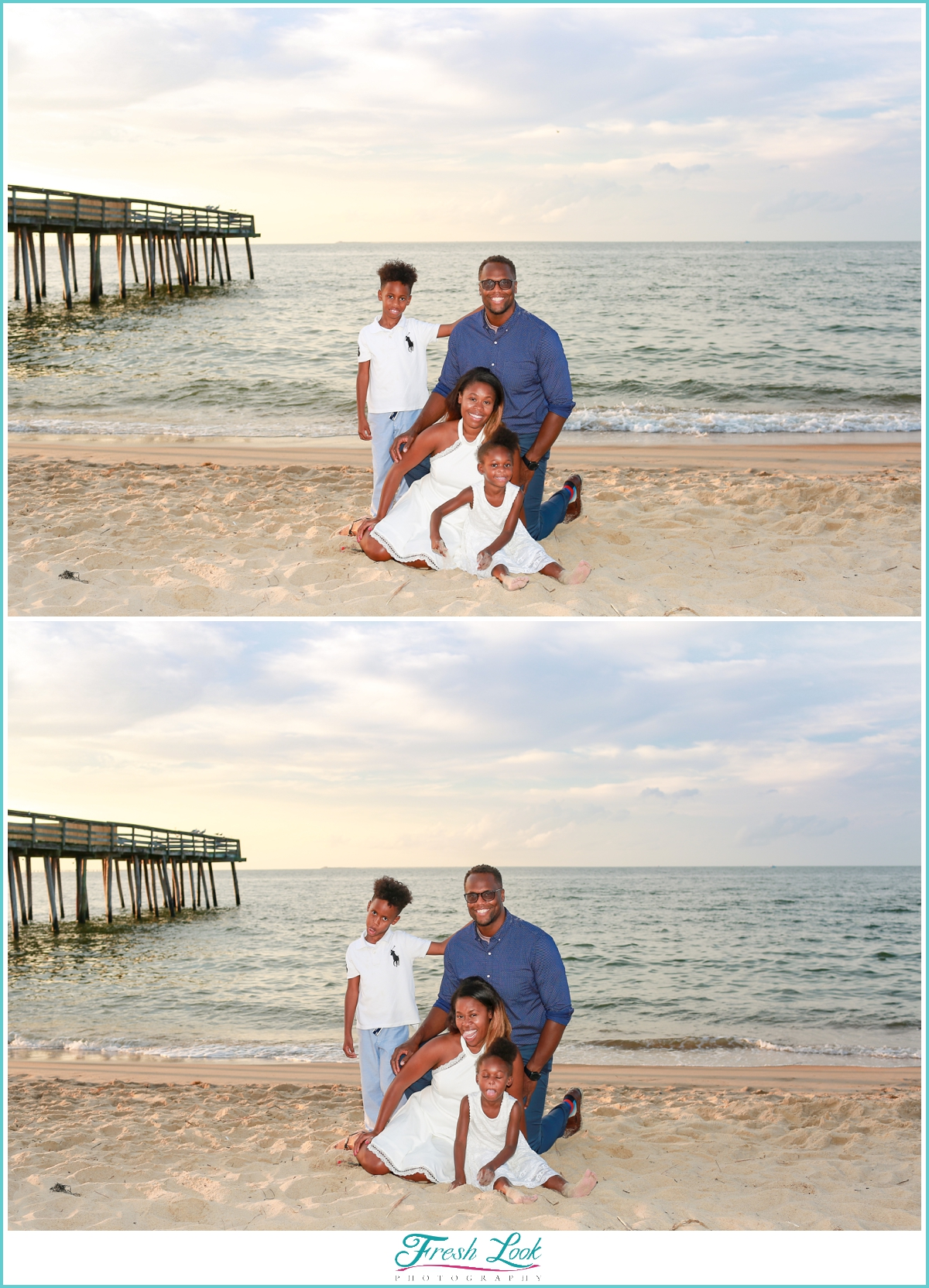 beach family photo shoot