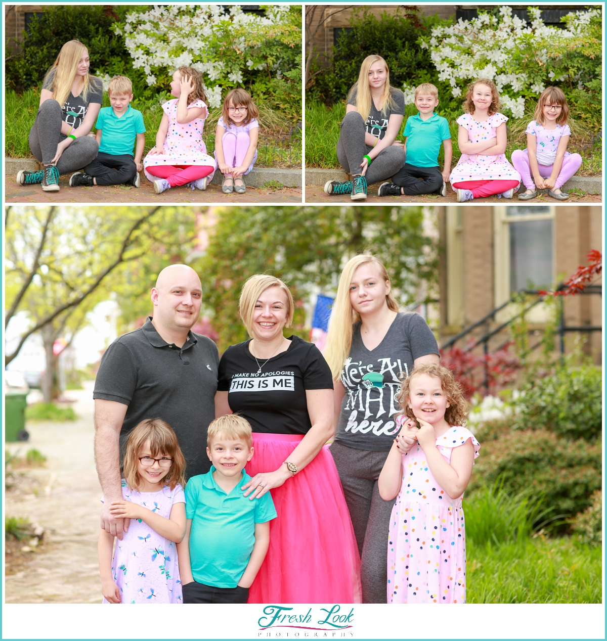 family photos in historic district