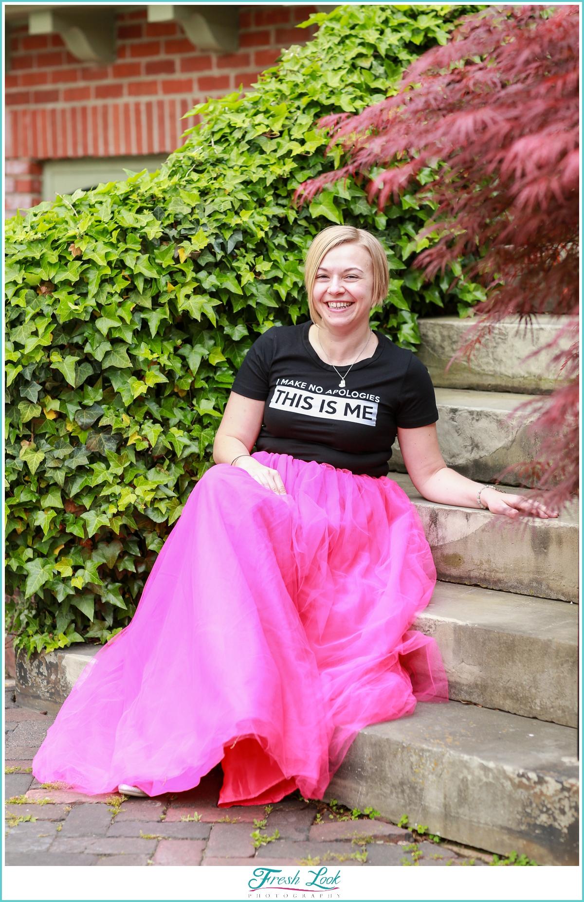 Creative Headshots with tulle skirt