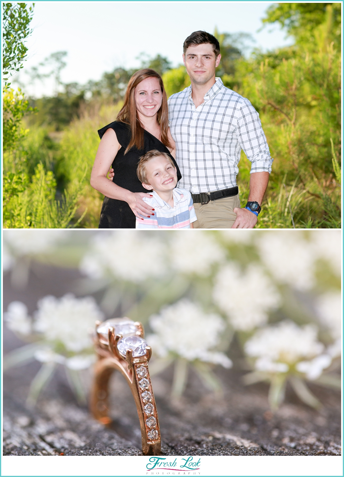 family photos at engagement session