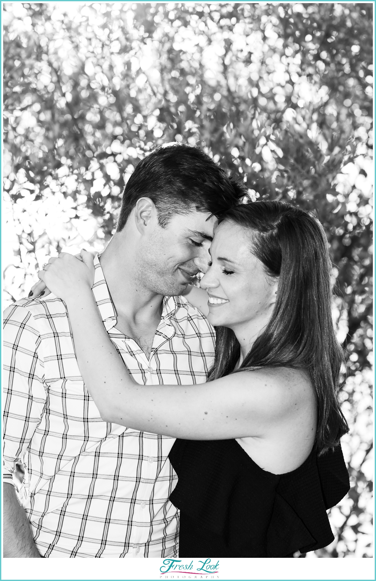 romantic black and white engagement pictures