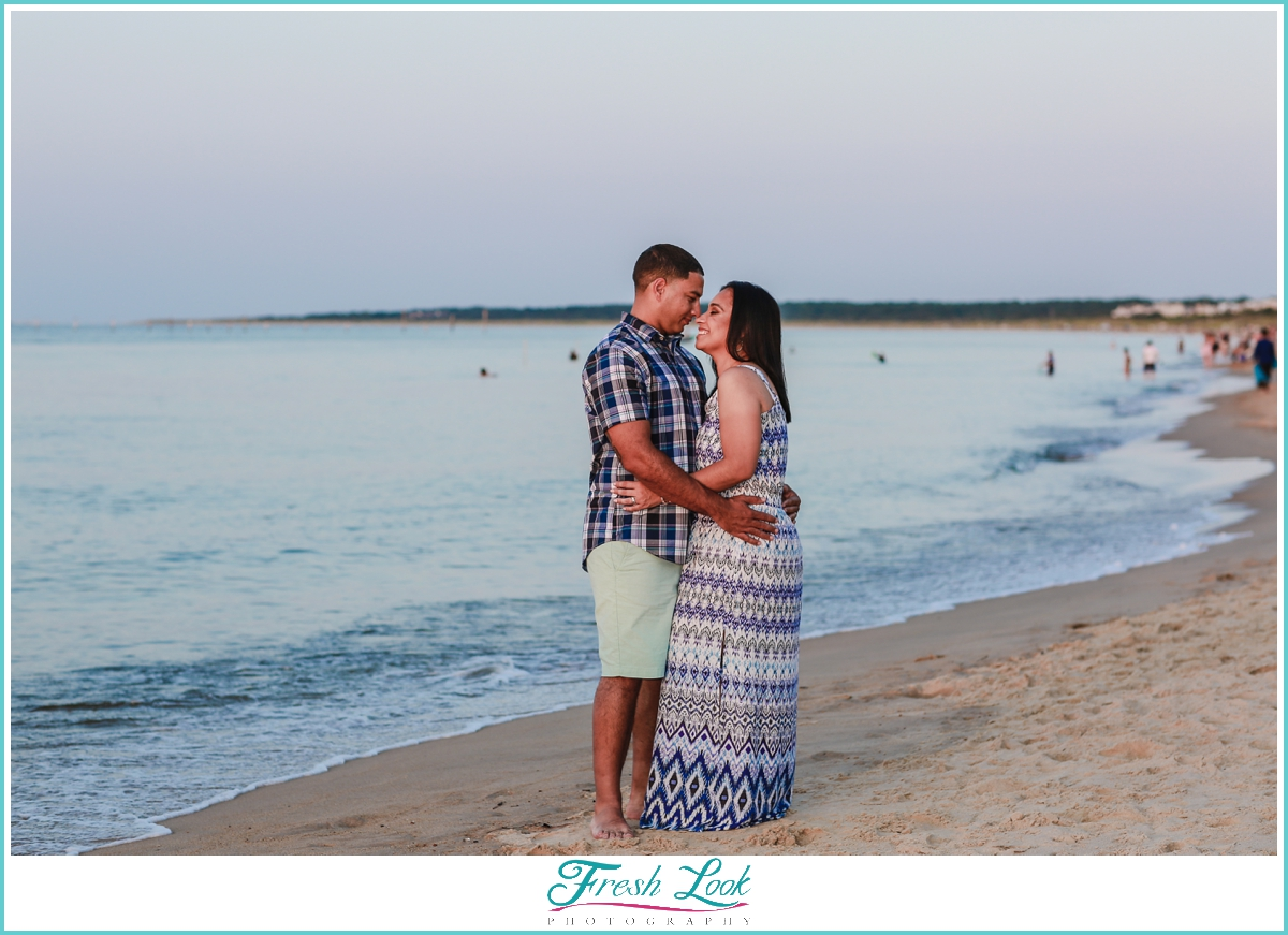 romantic beach engagement session