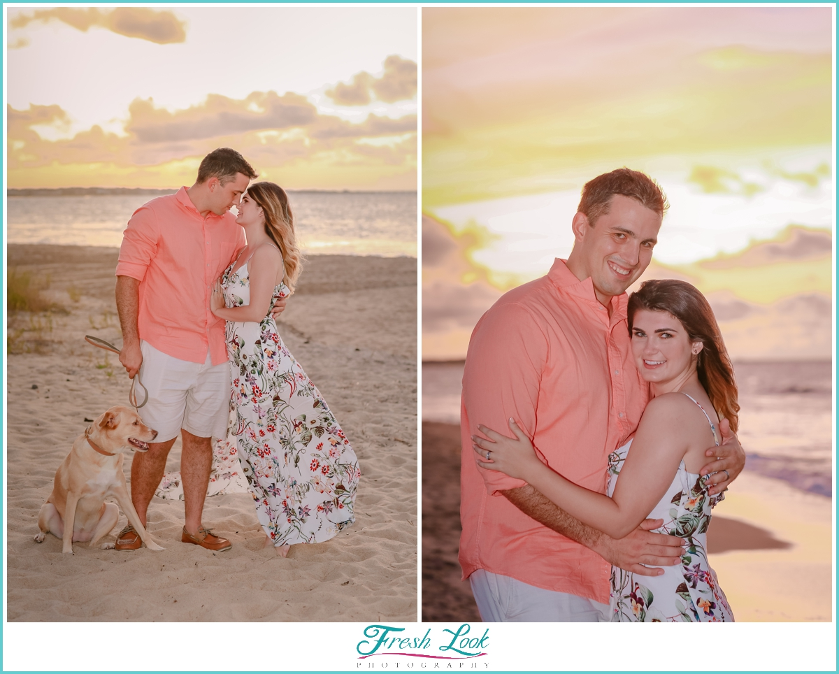 husband and wife photos on the beach