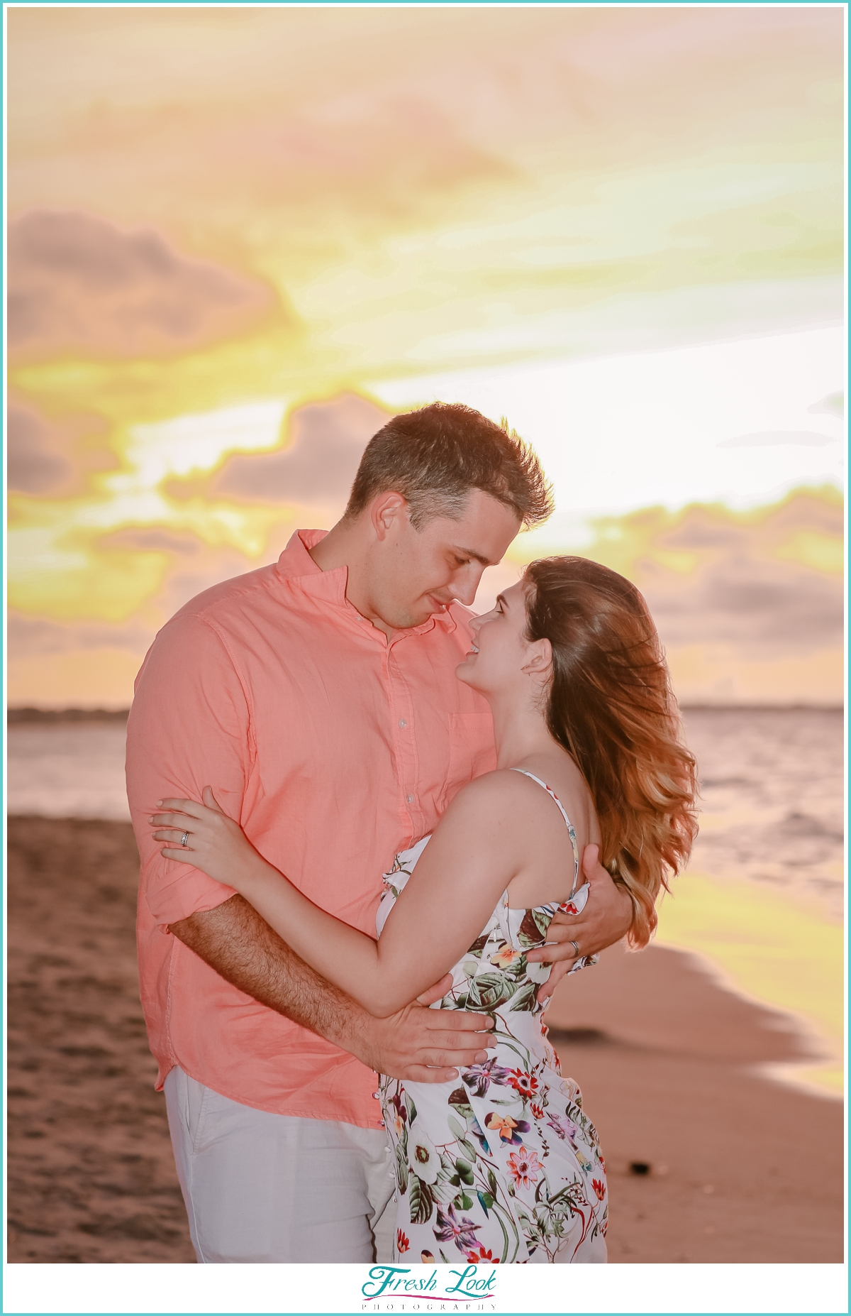 romantic sunset photo shoot
