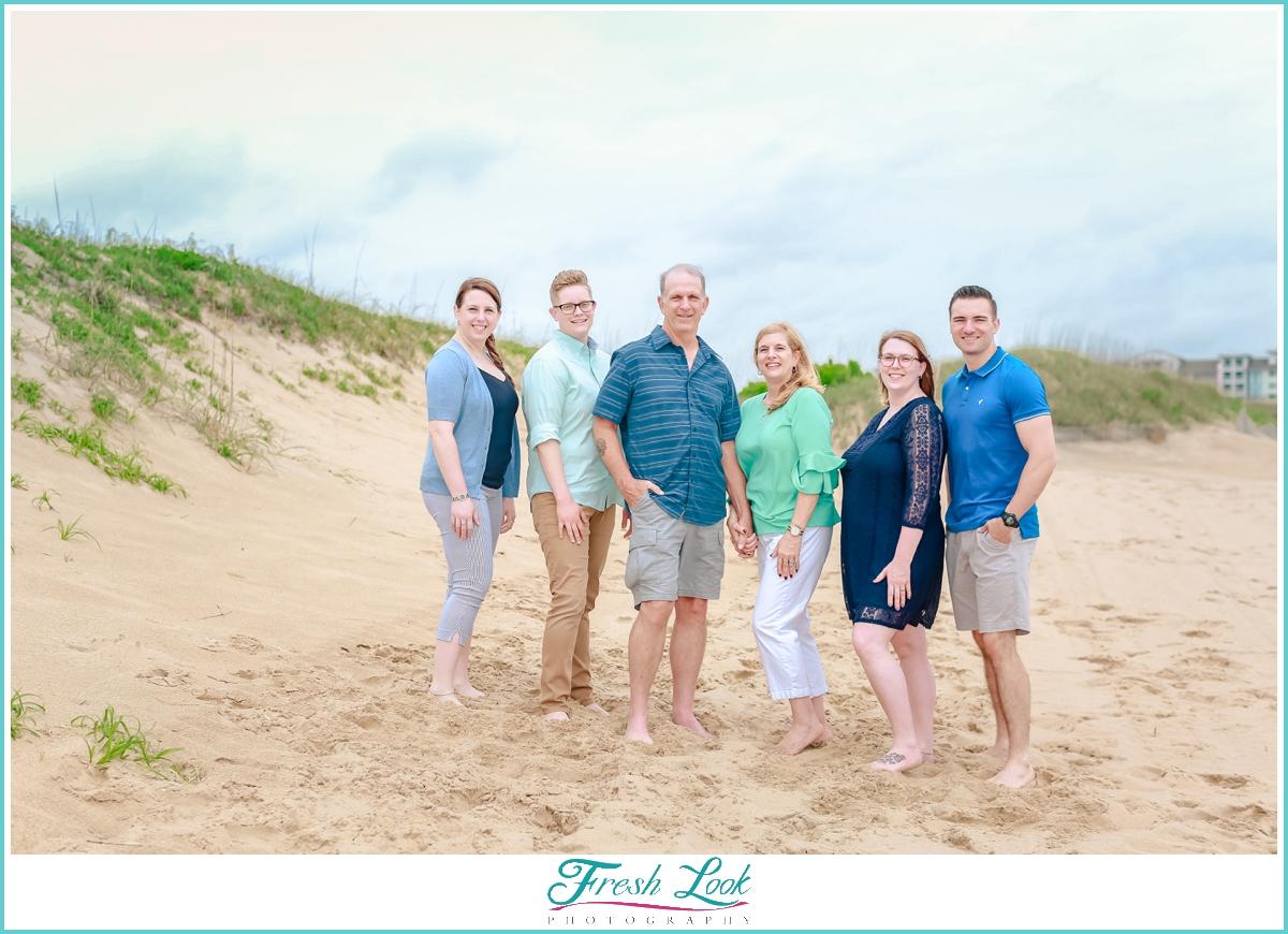 sea grass and dunes family photos