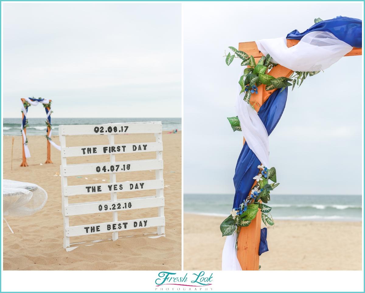 best day wedding sign