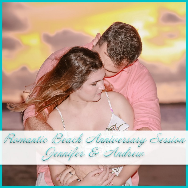 Romantic Beach Anniversary Session