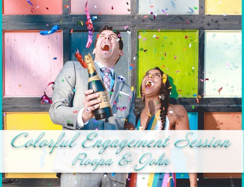 Colorful Beach Engagement Session | Roopa+John