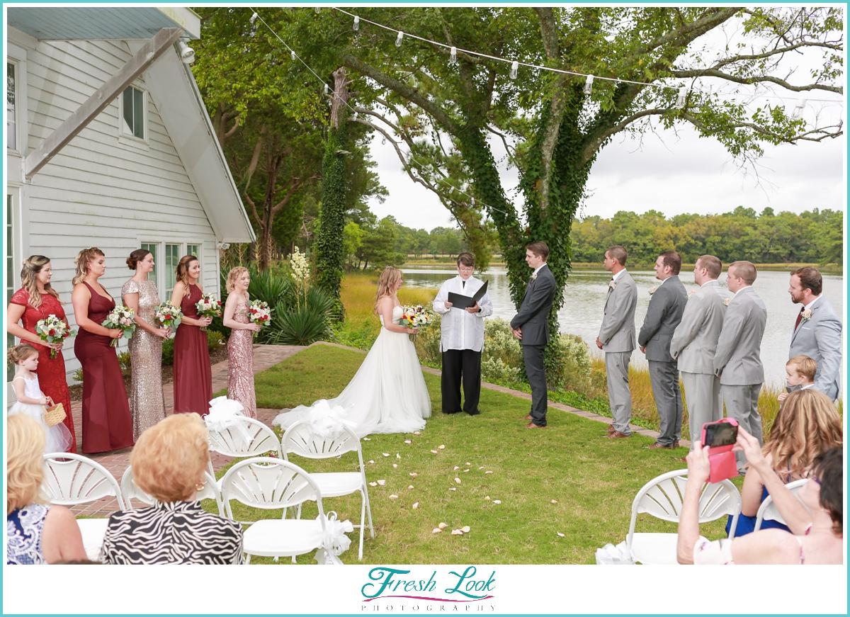Mimosa Barn wedding ceremony