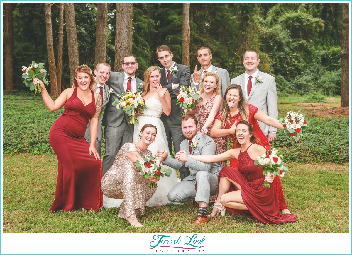 fun bridal party posing ideas