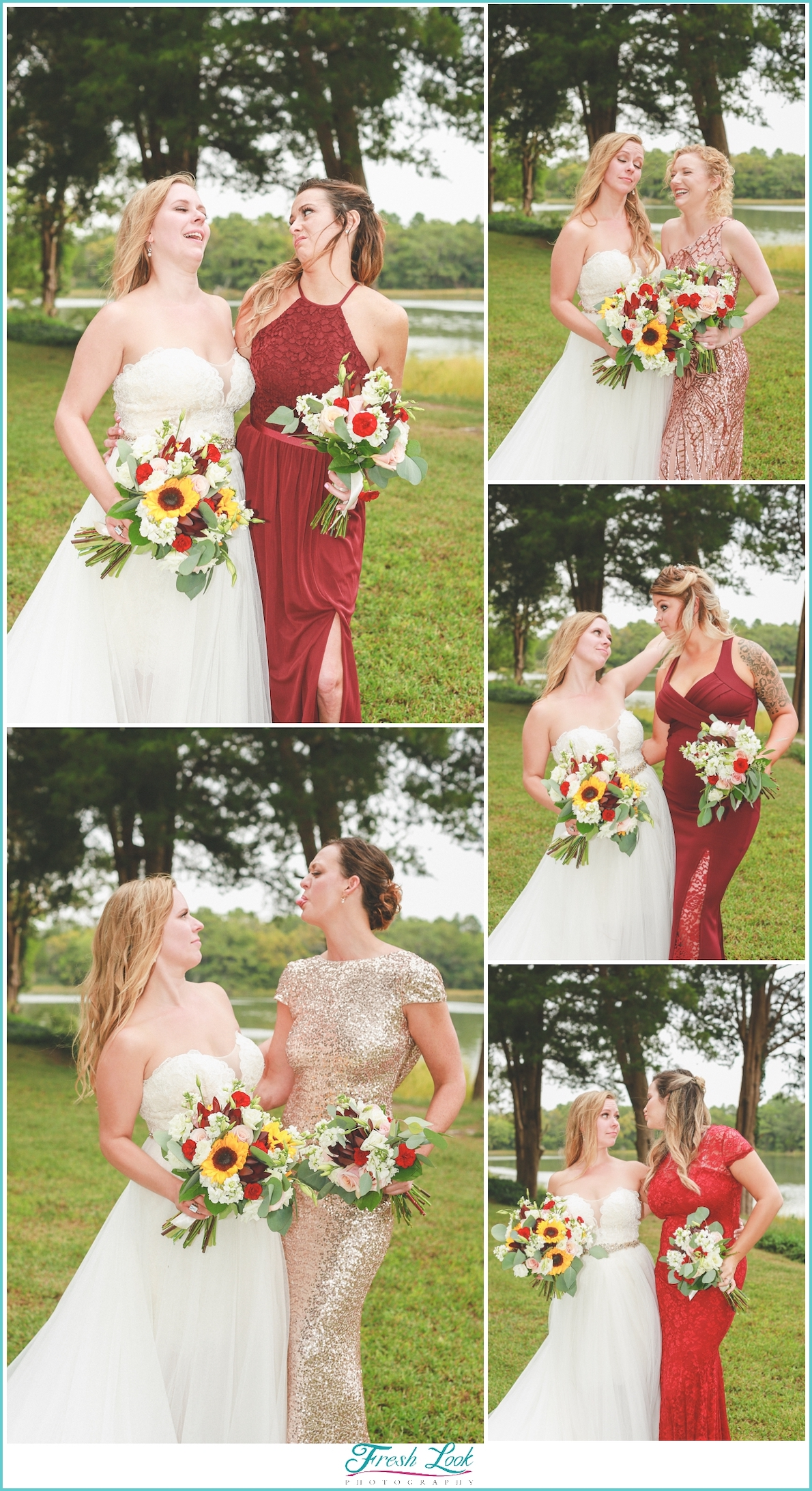 bridesmaids being silly