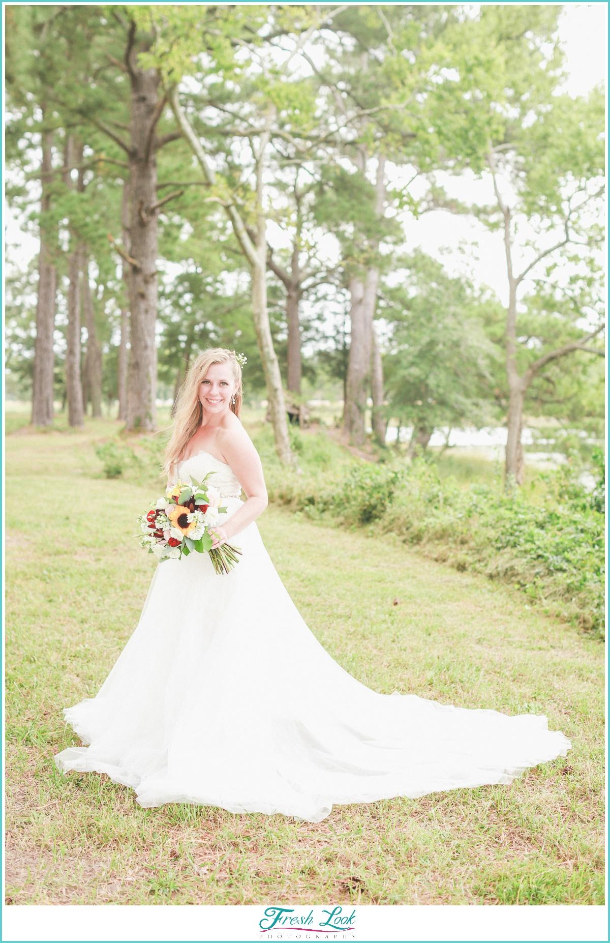 Mimosa Barn wedding bride