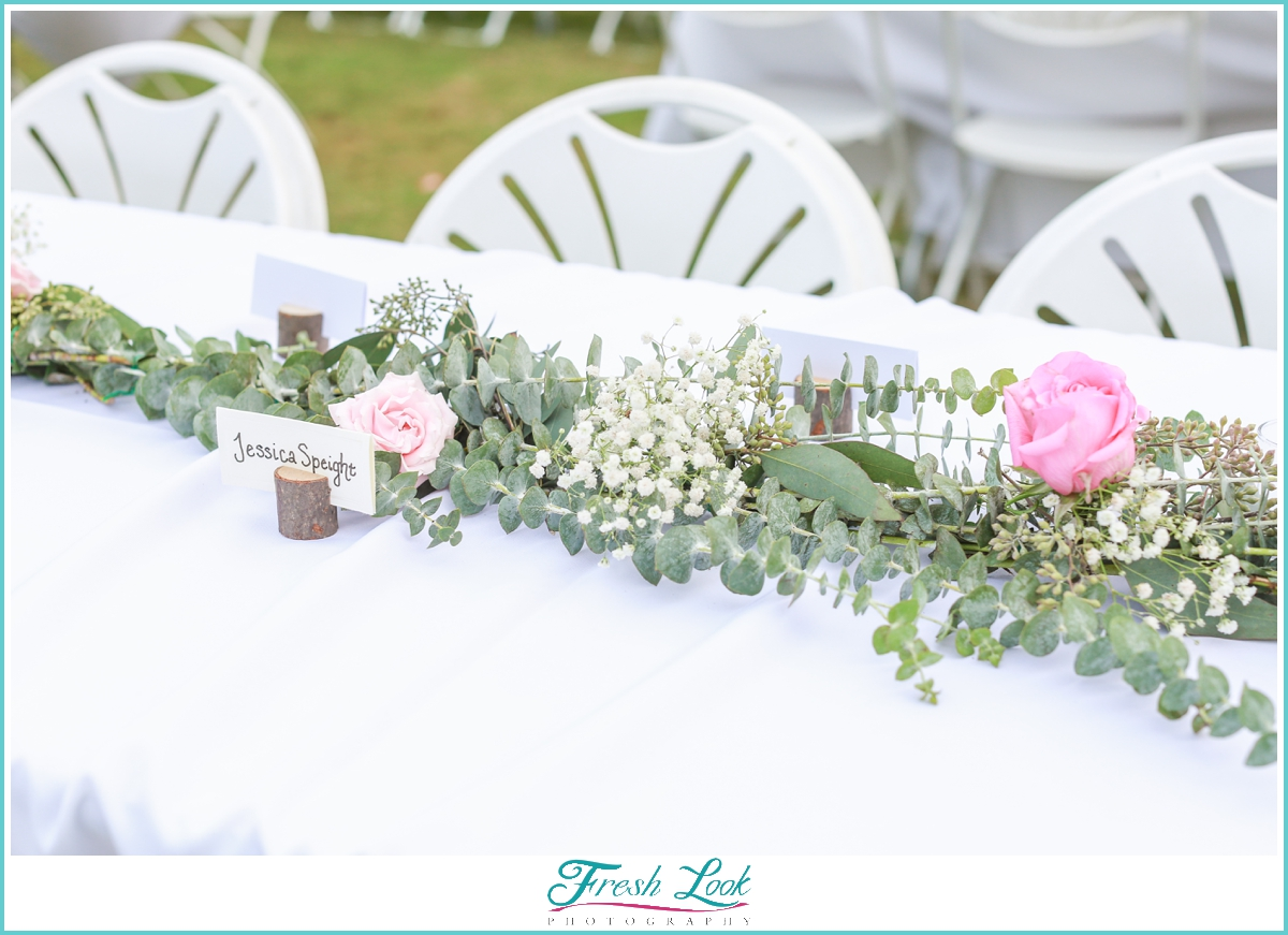 blush and gold reception table setting