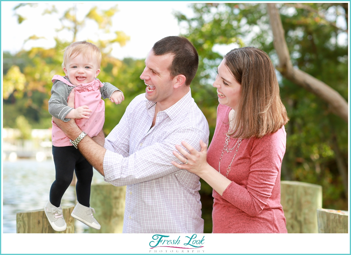 happy baby during photo shoot