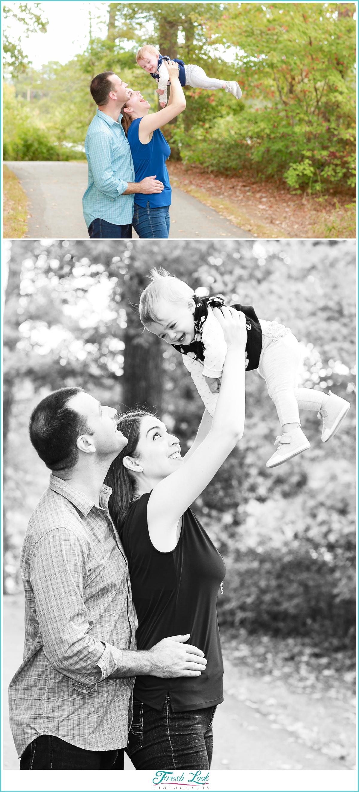 woodsy family photo shoot