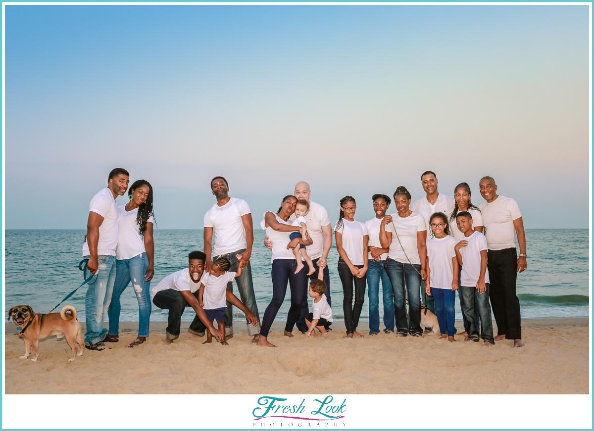 fun family beach photos