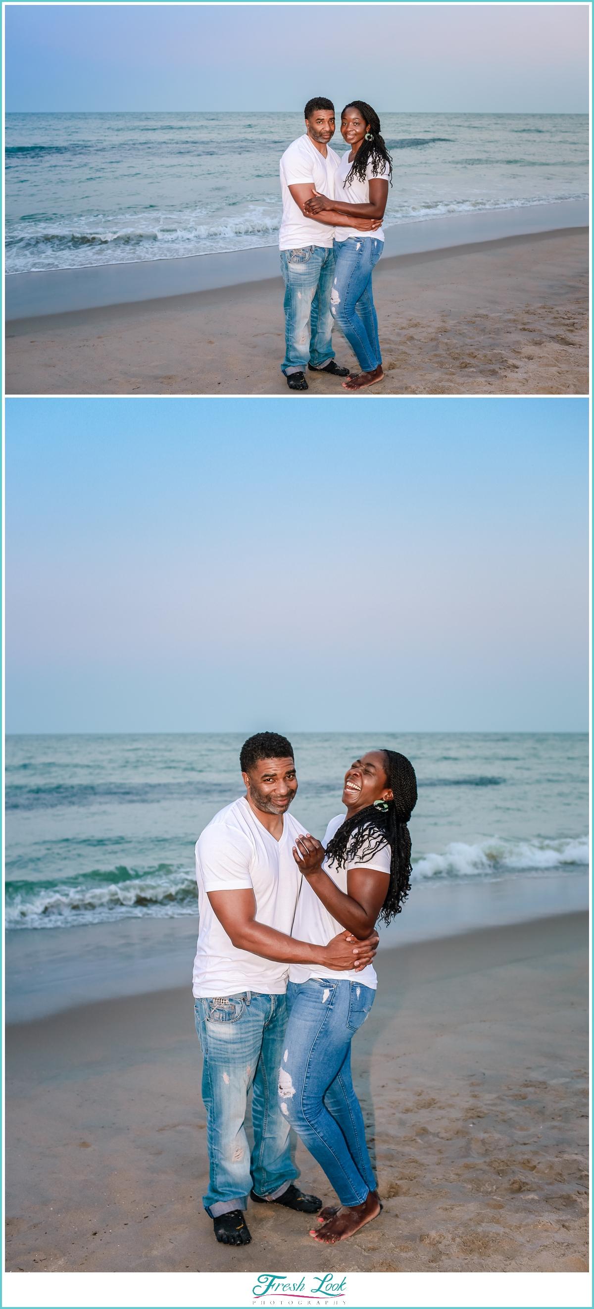 beach couples photos