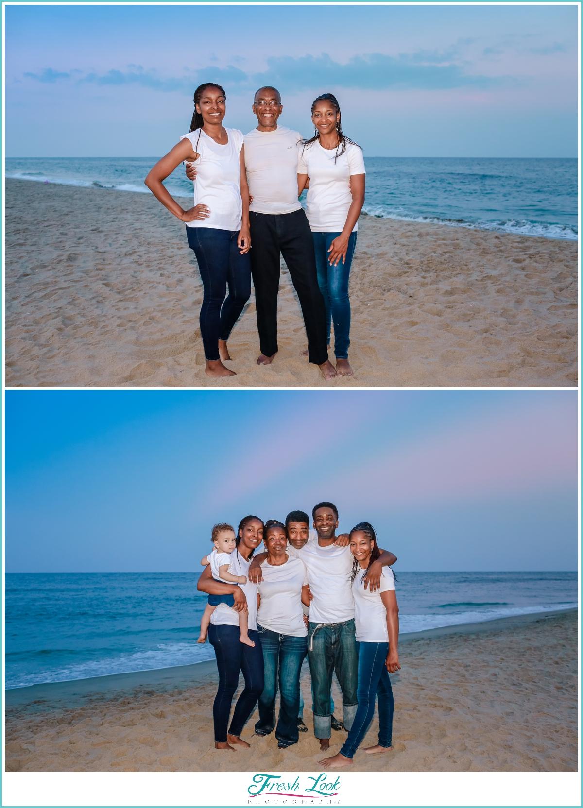 beach family photo shoot