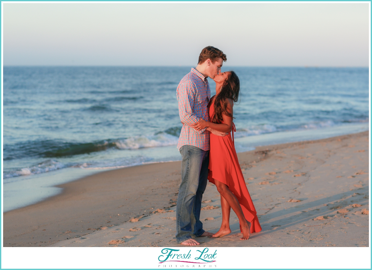 romantic sunset beach photos